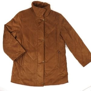 Vintage camel brown mid-length puffy coat